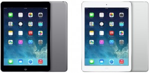 iPad Air in Space Gray and Silver