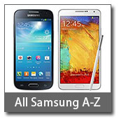 View all Samsung product prices A-Z
