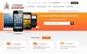 Gadget Gobbler website screenshot