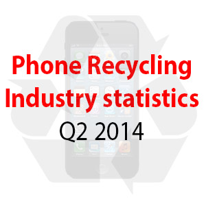 Phone and tablet recycling industry stats. Q2 2014 (April - June)