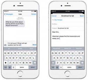iOS8 sentence completion function