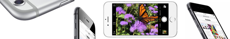 iPhone 6 and iPhone 6 Plus various image angles