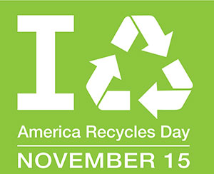 America Recycles Day - November 15 2014