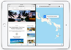 iOS9 split screen