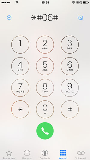 Find IMEI number on cell phone